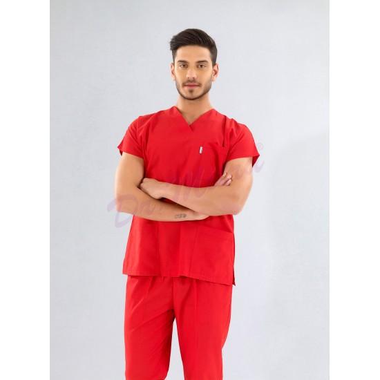 Yarasa Kol Modeli Cerrahi Takım ( Alpaka Kalın Kumaş)